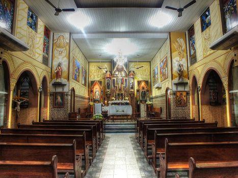 Фото бесплатно Церковь Сан-Бенедито, Abaetetuba, Пара, Бразилия, интерьер