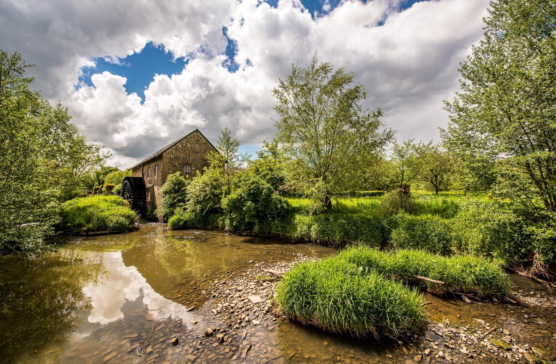 Обои Лимбург, Нидерланды, водяная мельница, река
