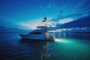 Бесплатные фото море,яхта,ночь