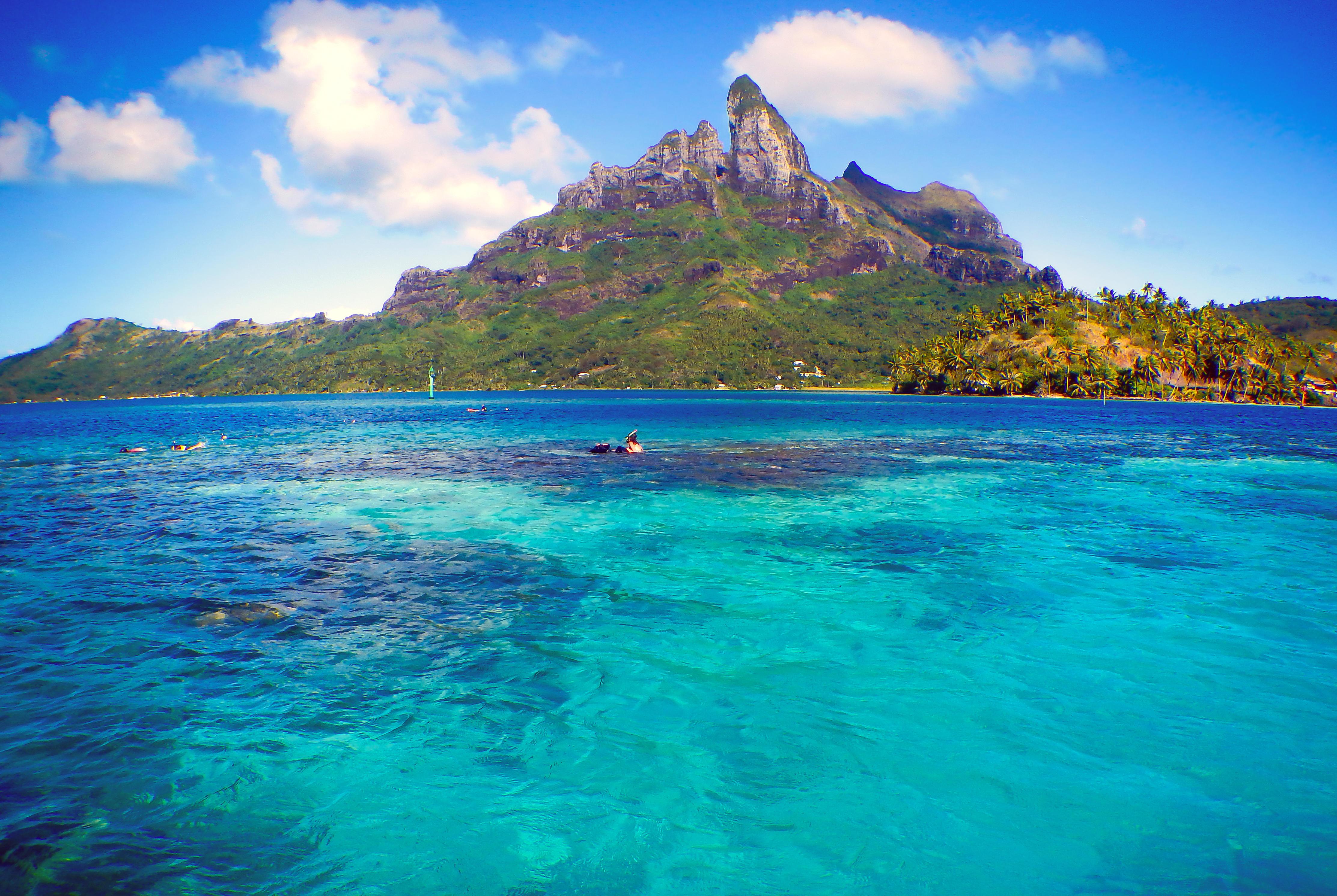 Обои тропики, Бора-бора, море, остров