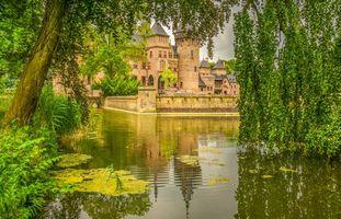 Фото бесплатно Замок Де Хаар, Нидерланды, пейзаж