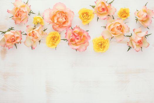 roses, flowers, wood