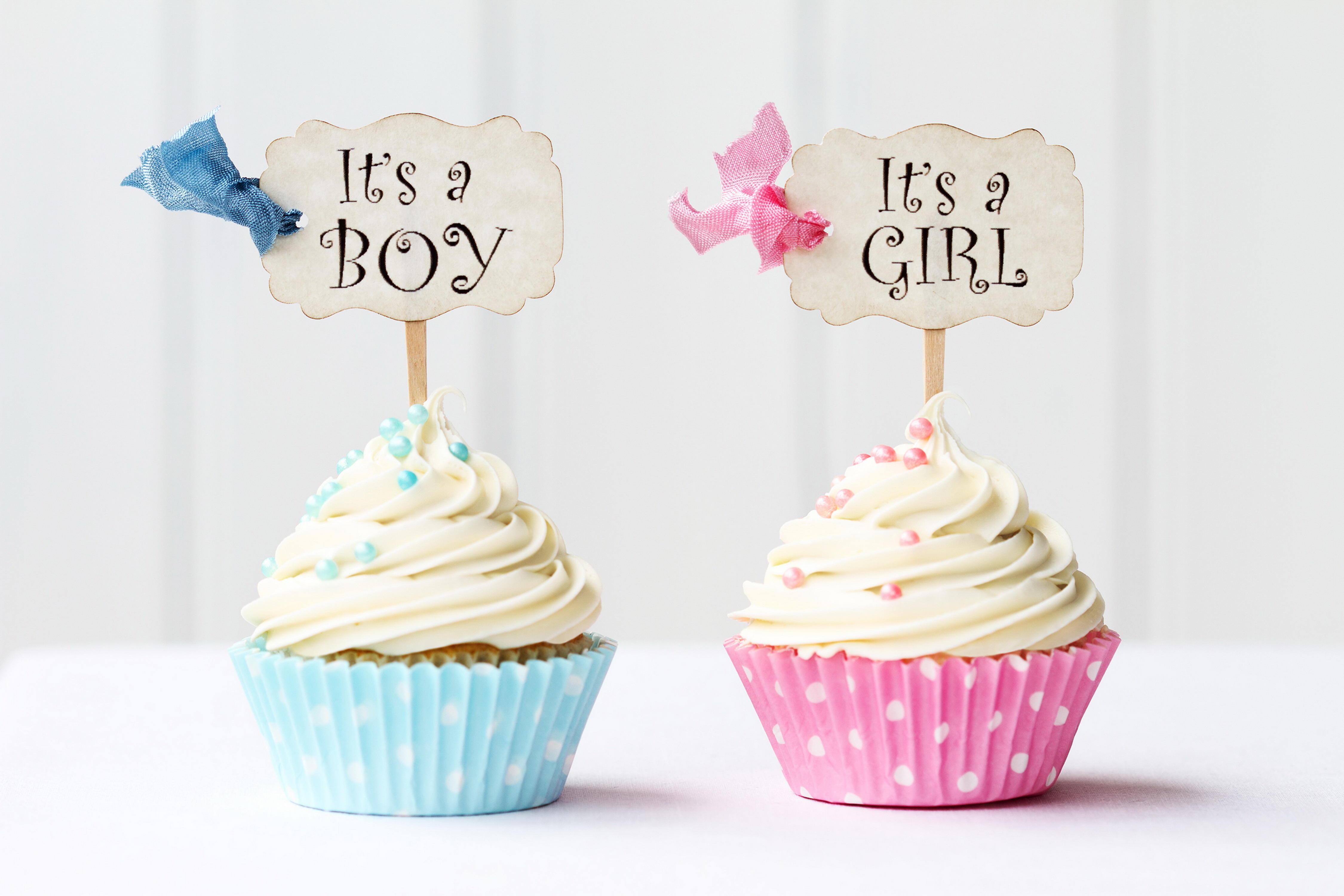 Обои кексы, день рождения, бантик