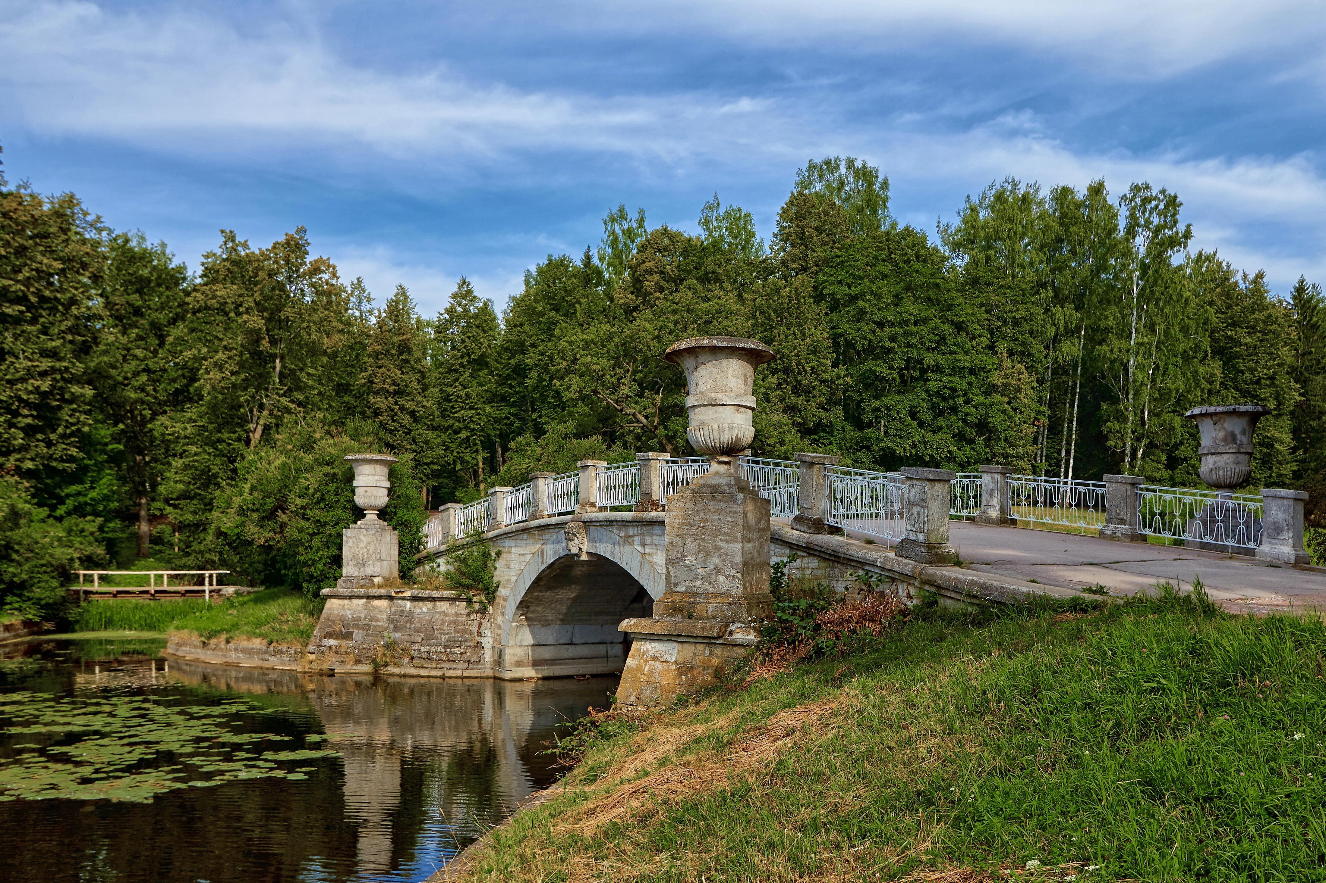Обои Санкт-Петербург, Павловский Парк, Река Славянка, мост