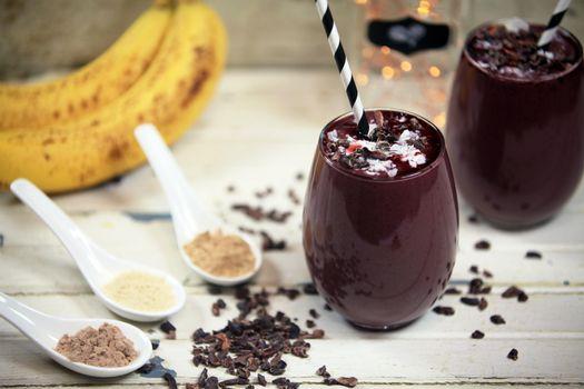 Фото бесплатно шоколад, бананы, напиток