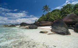 Заставки пейзаж, берег, сейшельские острова