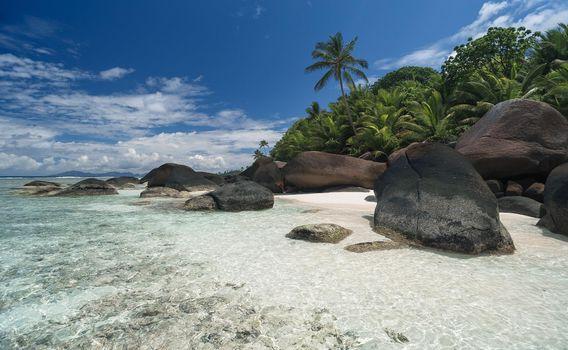 Фото бесплатно пейзаж, берег, сейшельские острова