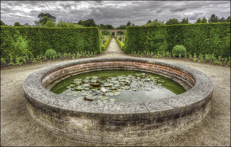 обои Уимпоул-стрит, сад, пруд, Wimpole Garden Pond картинки фото