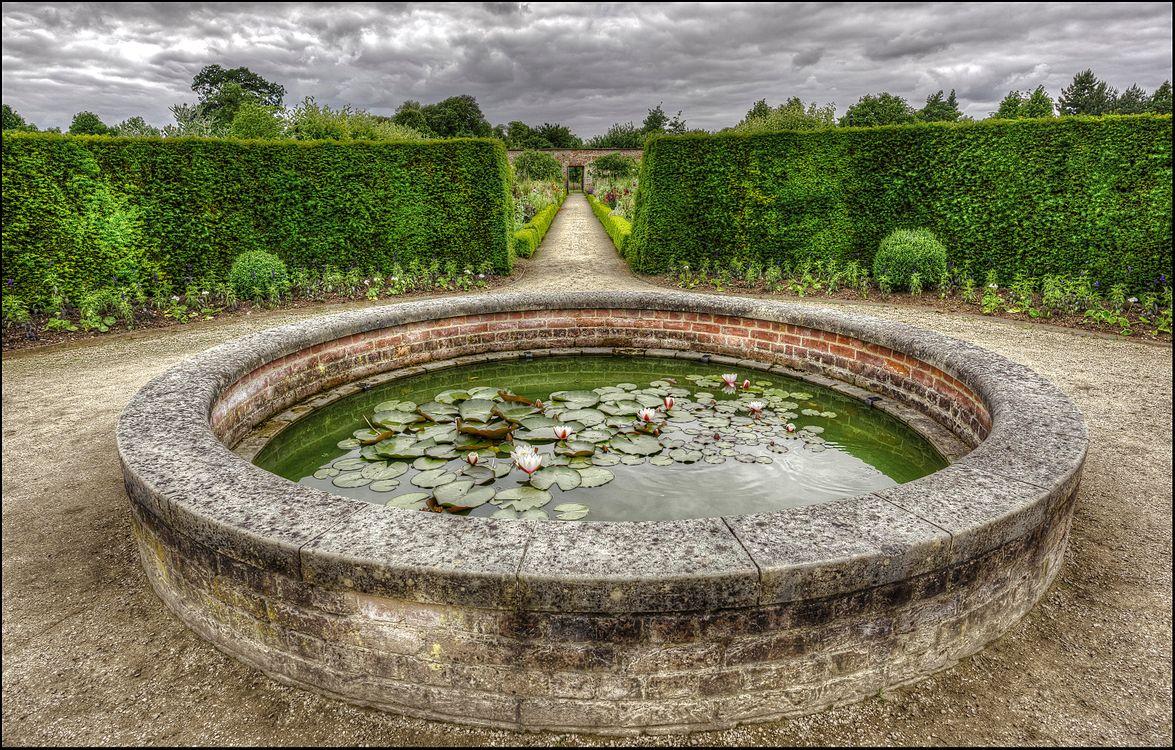 Фото бесплатно Уимпоул-стрит, сад, пруд, Wimpole Garden Pond, Arrington, Royston, Cambridgeshire, England, UK, пейзажи