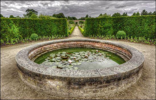 Бесплатные фото Уимпоул-стрит,сад,пруд,Wimpole Garden Pond,Arrington,Royston,Cambridgeshire,England,UK