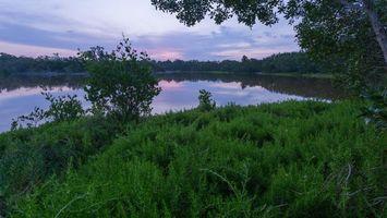 Бесплатные фото закат,озеро,берег,деревья,пейзаж
