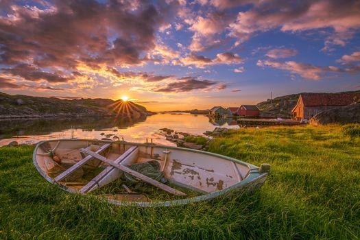 Фото бесплатно Норвегия, Рогаланд, закат