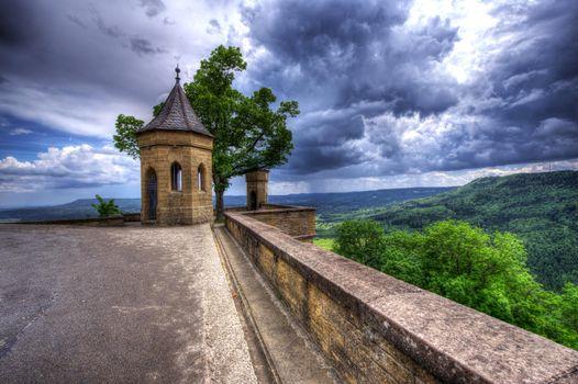Фото бесплатно вид из замка Гогенцоллерн, Германия