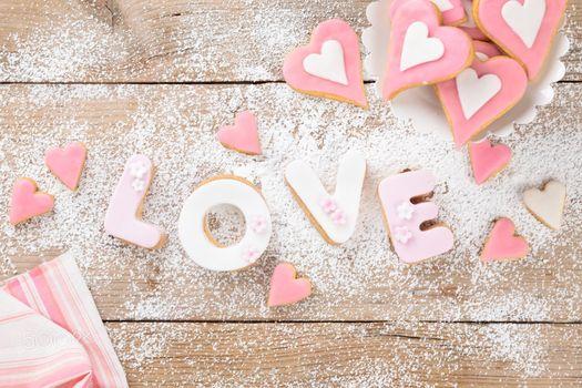 Бесплатные фото печенье,глазурь,сердечки