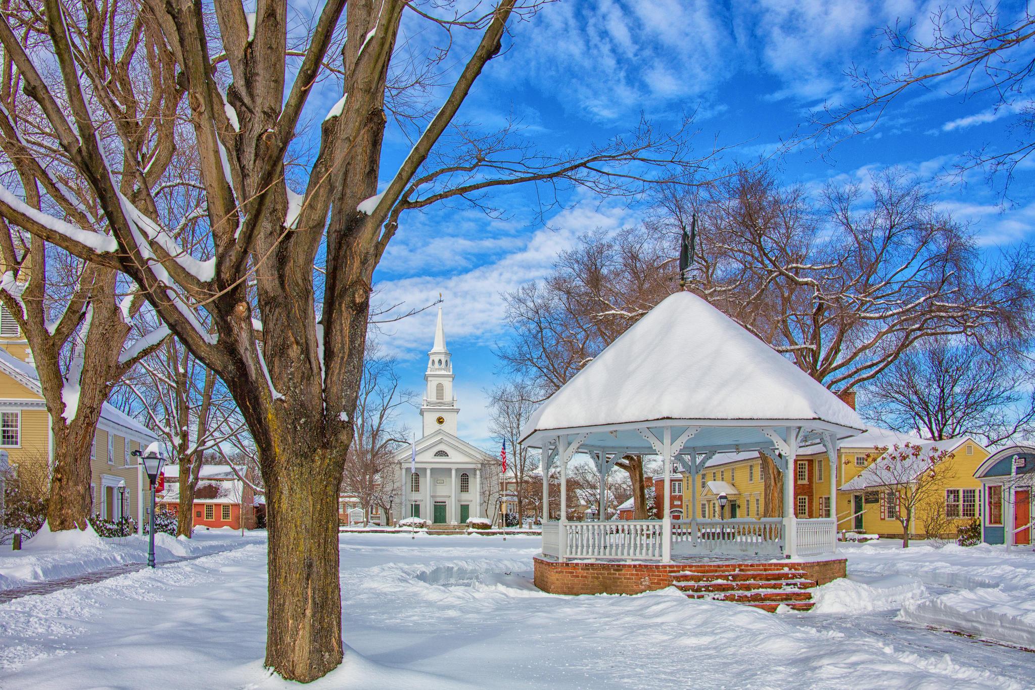 Обои Музей деревень Сторхортон - это подлинная, воссозданная деревня из девяти зданий 18-го и 19-го века из Массачусетса и Нью-Гэмпшира