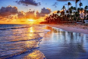Фото бесплатно тропики, море, пляж, закат