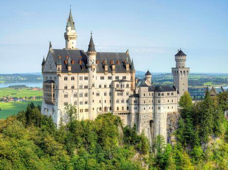 Photo free neuschwanstein castle, summer, castle