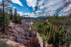 Бесплатные фото Crater National Park,горы,скалы,деревья,пейзаж