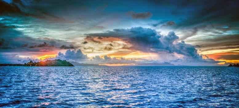 Фото бесплатно море, острова, закат