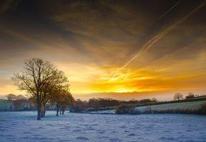 Фото бесплатно закат, холмы, пейзаж