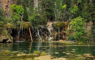 Заставки Колорадо, Гленвуд Каньон, Hanging Lake