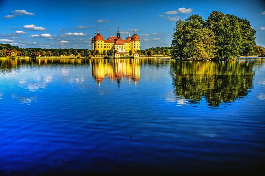 Фото бесплатно Castle Moritzburg, Замок Морицбург, Мейсен, Дрезден, Германия, пейзажи