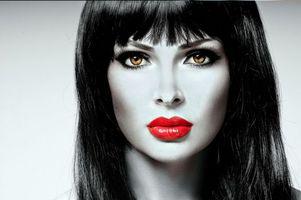 Обои портретное фото, люди, женщины, девушки, женщина, девушка, стиль, настроение, выражение лица, макияж