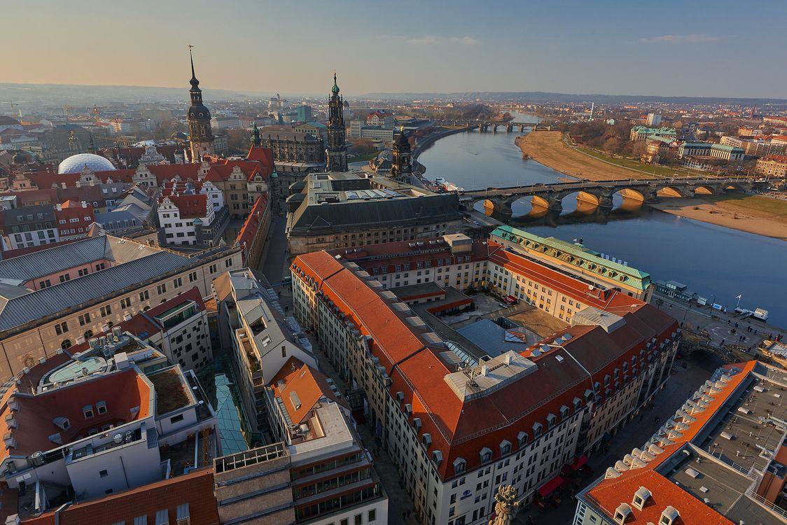 Обои Старый город сверху, Дрезден, Германия картинки на телефон