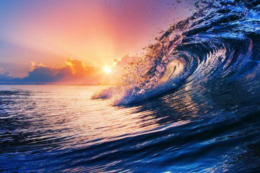 Бесплатные фото море,закат,волна