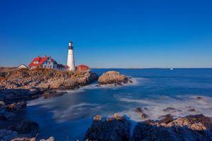 Фото бесплатно Portland Head Light, Cape Elizabeth, Maine