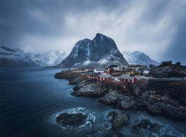 Заставки небо, вид, Норвегия