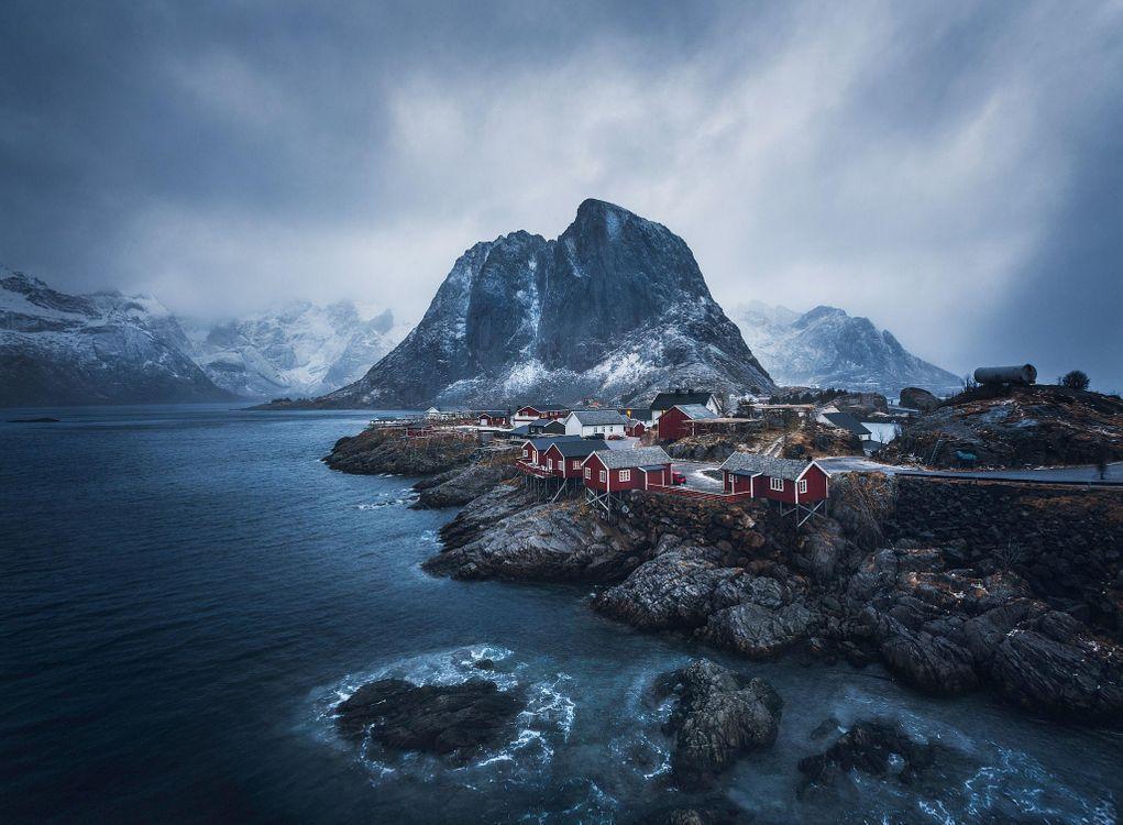 Обои небо, вид, Норвегия картинки на телефон