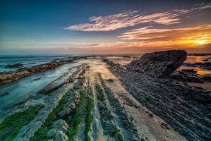 Фото бесплатно Фигейра-да-Фос, Португалия, закат