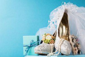 Бесплатные фото свадьба, box, бусы, коробка, подарок, туфли, Blue