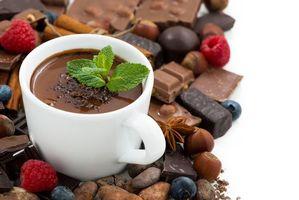 Бесплатные фото горячий шоколад, мята, шоколад, малина