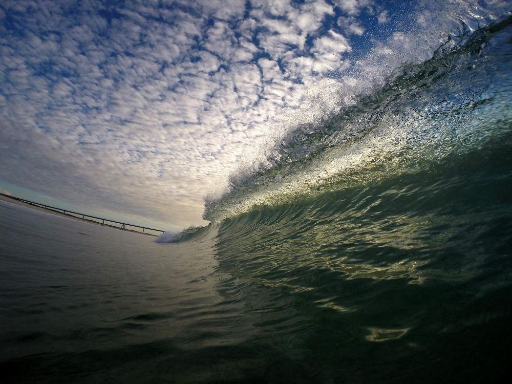 Фото бесплатно море, небо, волна, пейзаж, пейзажи