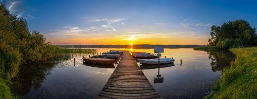 Бесплатные фото озеро,Ratzeburg,Шлезвиг-Гольштейн,Германия,закат,лодки,лодка