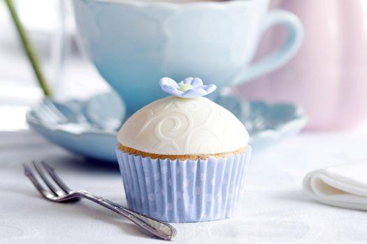Фото бесплатно pirozhnoe, keks, cvetochek