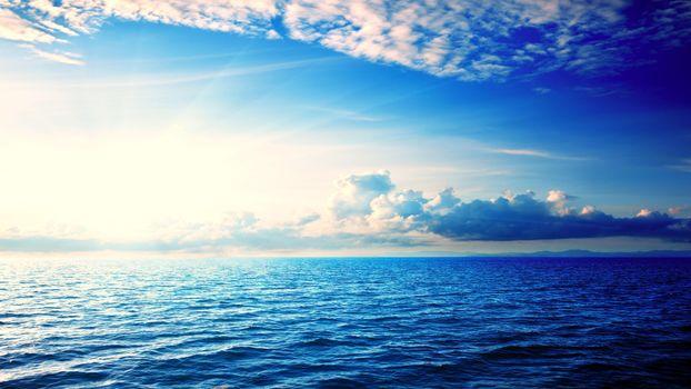 Заставки море, облака, пейзаж