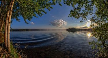 Фото бесплатно Финляндия, озеро, отражение