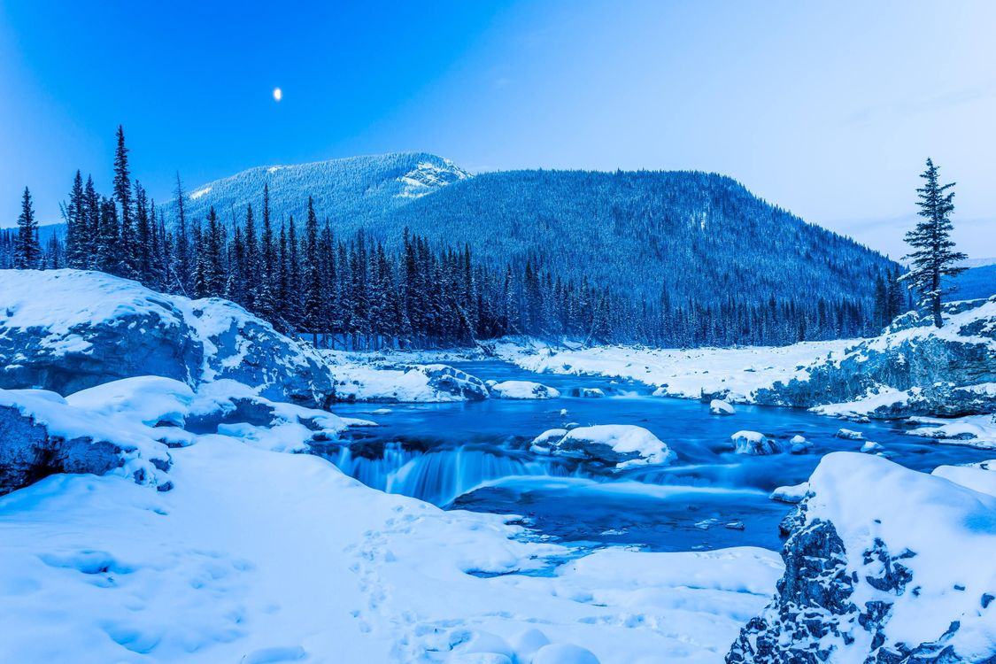 Photos for free Winter, Kananaskis, snow - to the desktop