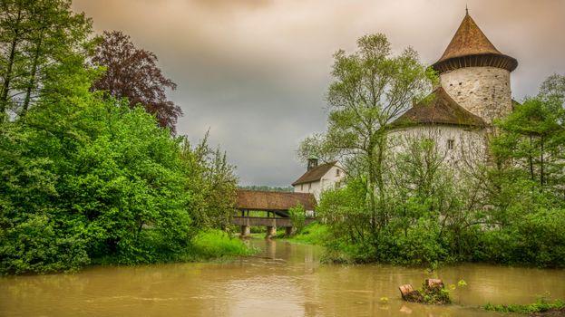 Фото бесплатно река, мост, башня