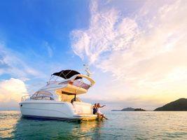 Фото бесплатно море, яхта, девушки