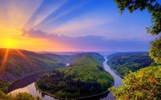 Фото бесплатно Саар, Оршгольц, петля реки Саар в Метлахе