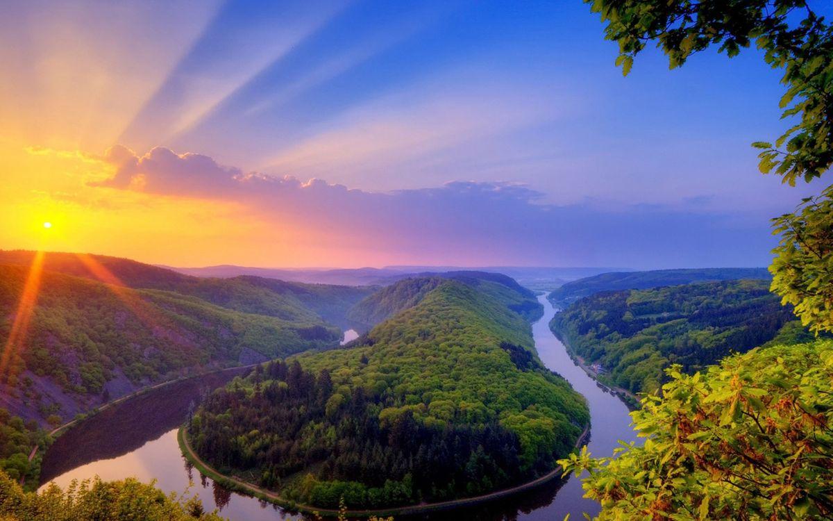 Фото бесплатно река Саар, Петля реки Саар в Метлахе, Германия, Метлах, Saar, Mettlach, Петля реки Саар, Saar River, Germany, Saarschleife, Оршхольц, пейзажи
