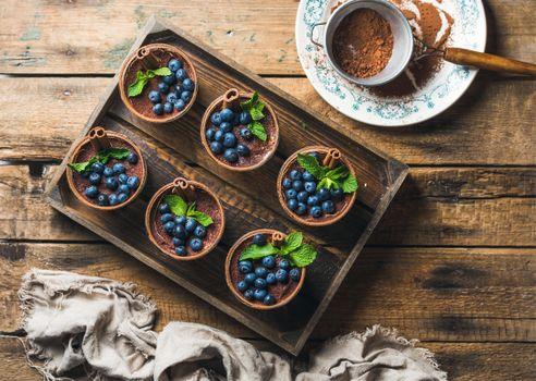 Фото бесплатно мята, маскарпоне, какао