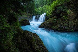 Бесплатные фото река, водопад, скалы, лес, деревья, пейзаж