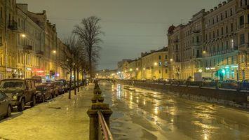 Обои Griboyedov canal, St Petersburg