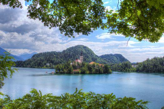 Обои бледское озеро, остров блед высокого качества