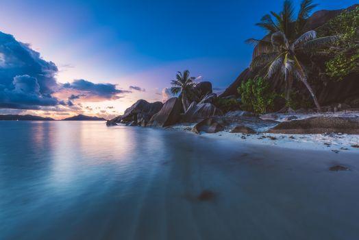 Заставки Сейшельские острова, закат, море